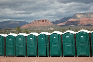The Most Beautiful Finish Line Potties Around!